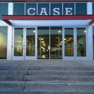 South entrance of the Case building